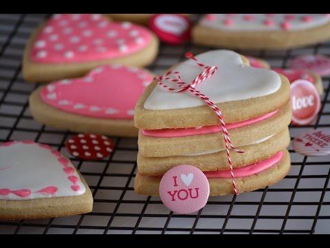Tutorial Para Decorar Galletas de San Valentín | Cómo Decorar Galletas | SyS