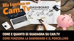 Come e quanto si guadagna su Cam.tv? Come funziona Dashboard, Porcellino, e gli Abbonamenti Founder