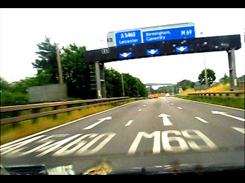 M69 Motorway by Dashcam + Coventry Ring Road A46