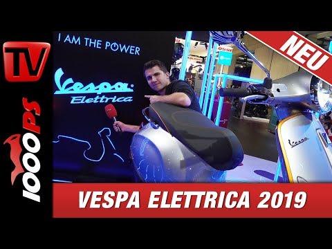 Vespa Elettrica - Leistung, Reichweite und erste Probefahrt auf der EICMA.