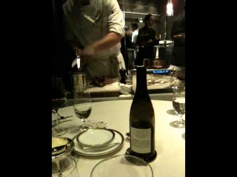 Next Restaurant - Kitchen Table - Duck Presentation (Caneton Rouennais a la Presse - 3476)