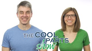 Peter Zelinski and Stephanie Hendrixson hosting The Cool Parts Show