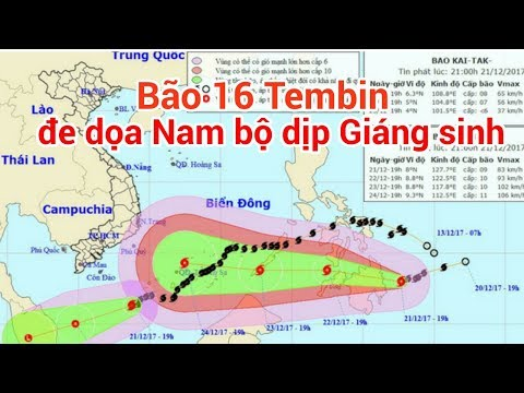 Bão số 16  Tembin đe dọa Nam bộ dịp Giáng sinh