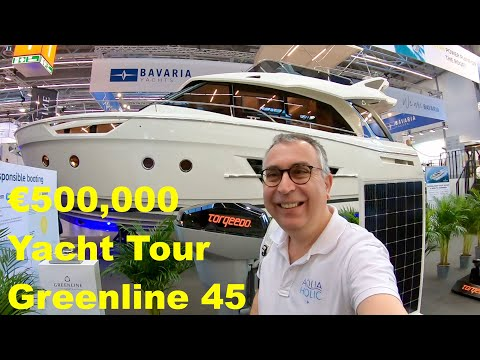 €500,000 Yacht Tour : Greenline 45 (Hybrid version available)