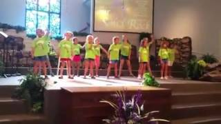 Discovery Camp performing at the Fannin County Women