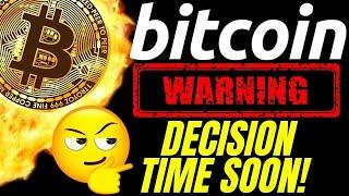 WARNING! BITCOIN DECISION TIME!! LITECOIN ETHEREUM Crypto TA price prediction analysis news trading