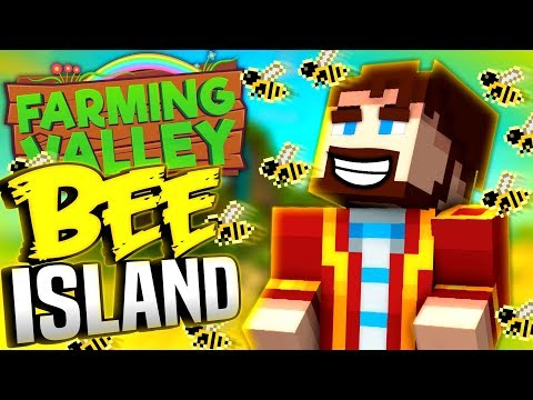 Minecraft Farming Valley #26 - Lewis Makes A Bee Island