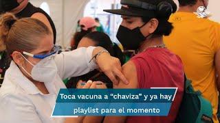 Bichota y Sálvame son algunos de los temas que sonarán mientras los jóvenes de 18 a 29 años reciben la vacuna contra el coronavirus