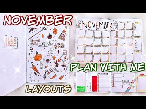 PLAN WITH ME: November Bullet Journal Layout Themes, Ideas + NEW page ideas for budgeting!!