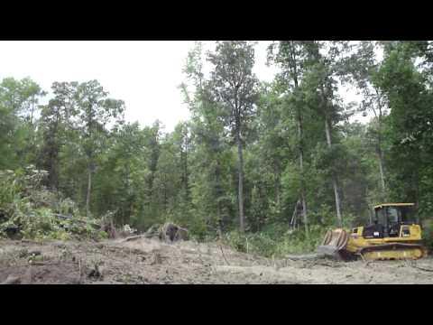 Trial Caterpillar Dozer D5r Land Clearing Cetak Sawah
