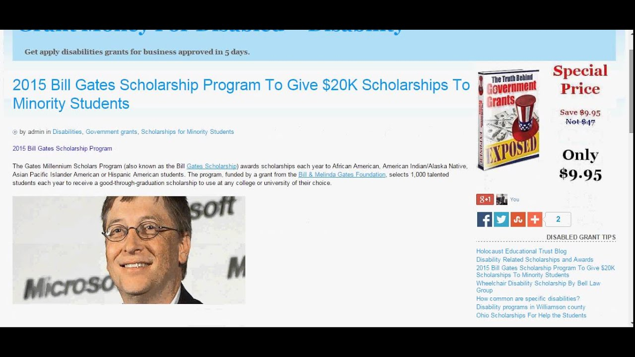 2015 Bill Gates Scholarship Program