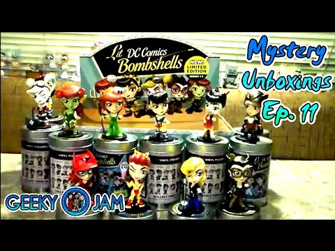 Full Case Unboxing of Lil DC Comics Bombshells Series 1.5 by Cryptozoic Entertainment