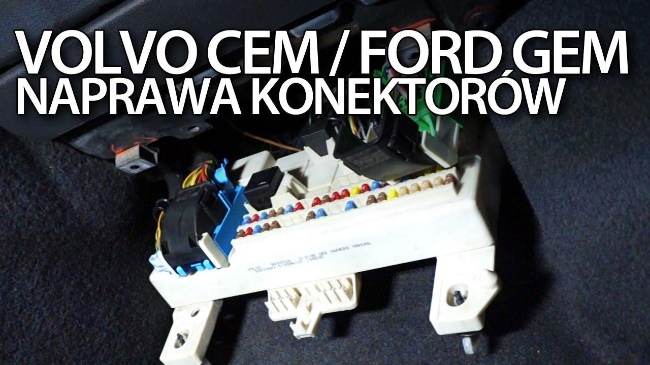 2006 Ford Focus Fuse Box Diagram Naprawa Konektor 243 W Cem Gem W Volvo C30 S40 V50 C70 Ford