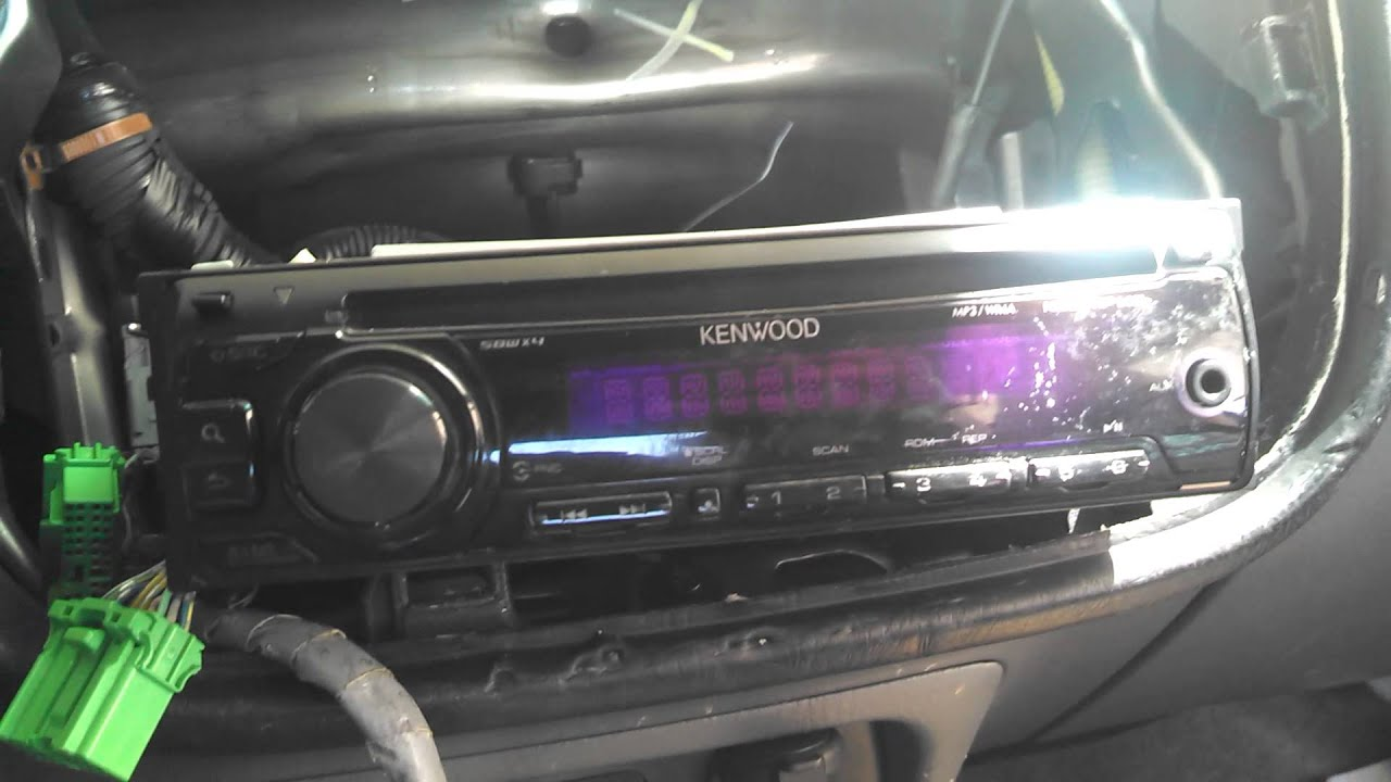 kenwood radio re wiring help youtube rh youtube com kenwood car radio wiring colours kenwood car stereo wiring
