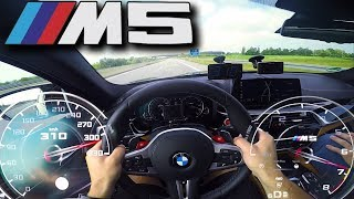 Cruising at 310km/h (192 MPH) with BMW M5 F90 on German Autobahn ✔