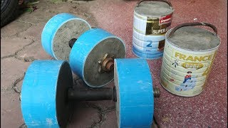 How to make a cement dumbbells / for gym at home