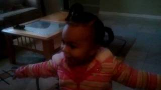 Toddlers imitation from the movie,