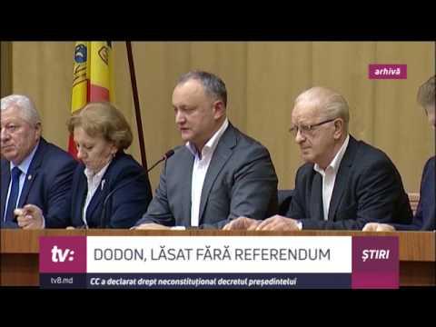 Referendumul lui Igor Dodon - respins de Curtea Constituțională