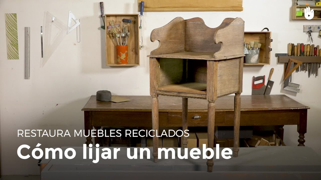 C mo lijar un mueble restaurar muebles youtube for Restaurar vigas de madera pintadas