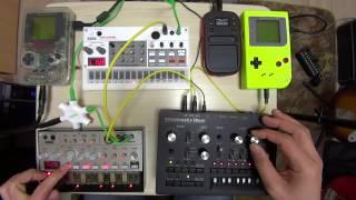 Arduinoboy : Hacked Gameboy with MIDI control Key