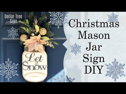 Christmas Mason Jar  Sign | Christmas DIY