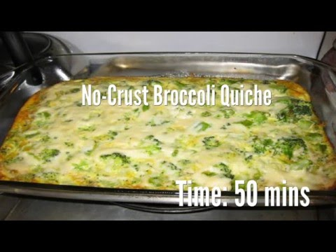 No-Crust Broccoli Quiche Recipe
