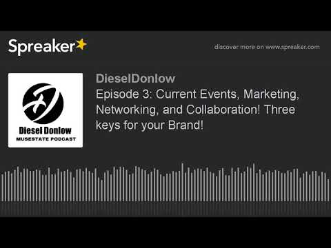 Episode 3: Current Events, Marketing, Networking, and Collaboration! Three keys for your Brand!