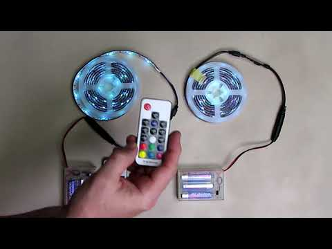 REVIEW  Battery Powered RGB Waterproof LED Strip Lights & Remotes  [2 Pack] 6.56ft