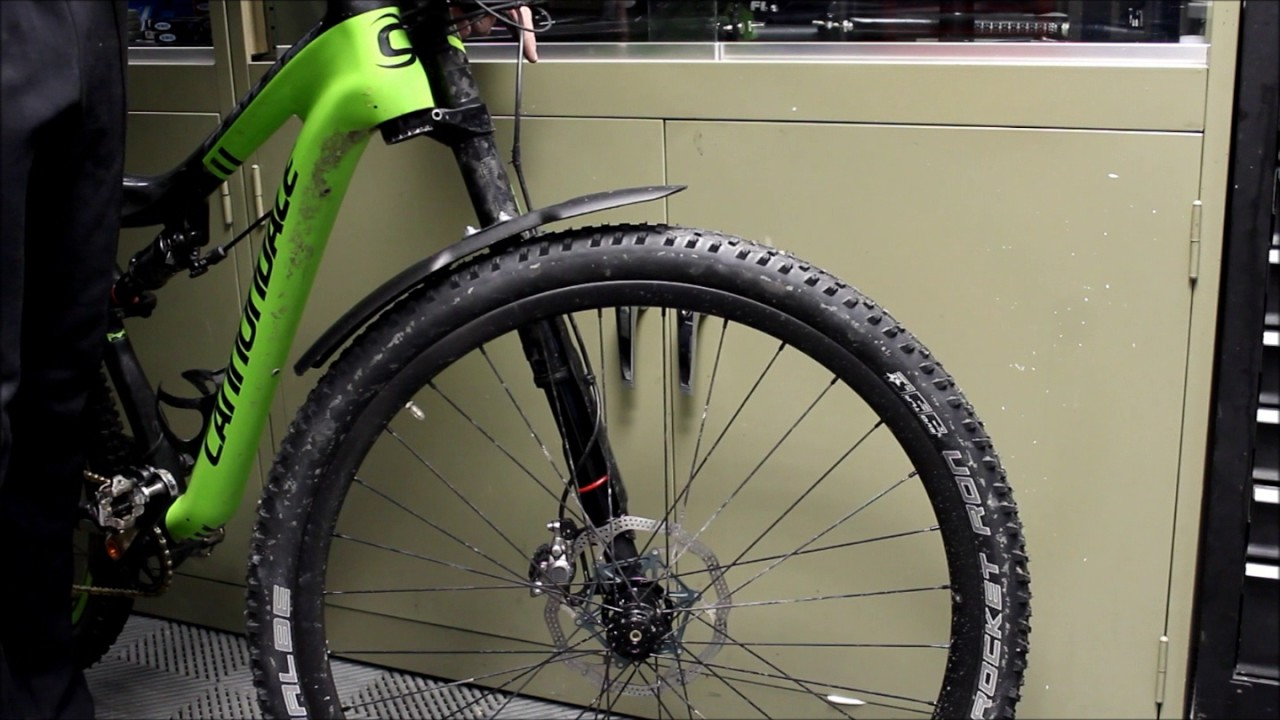 Cannondale mud guard flatland bicycles  YouTube