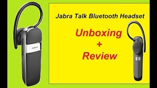 Jabra Talk Bluetooth Headset - Unboxing & Review