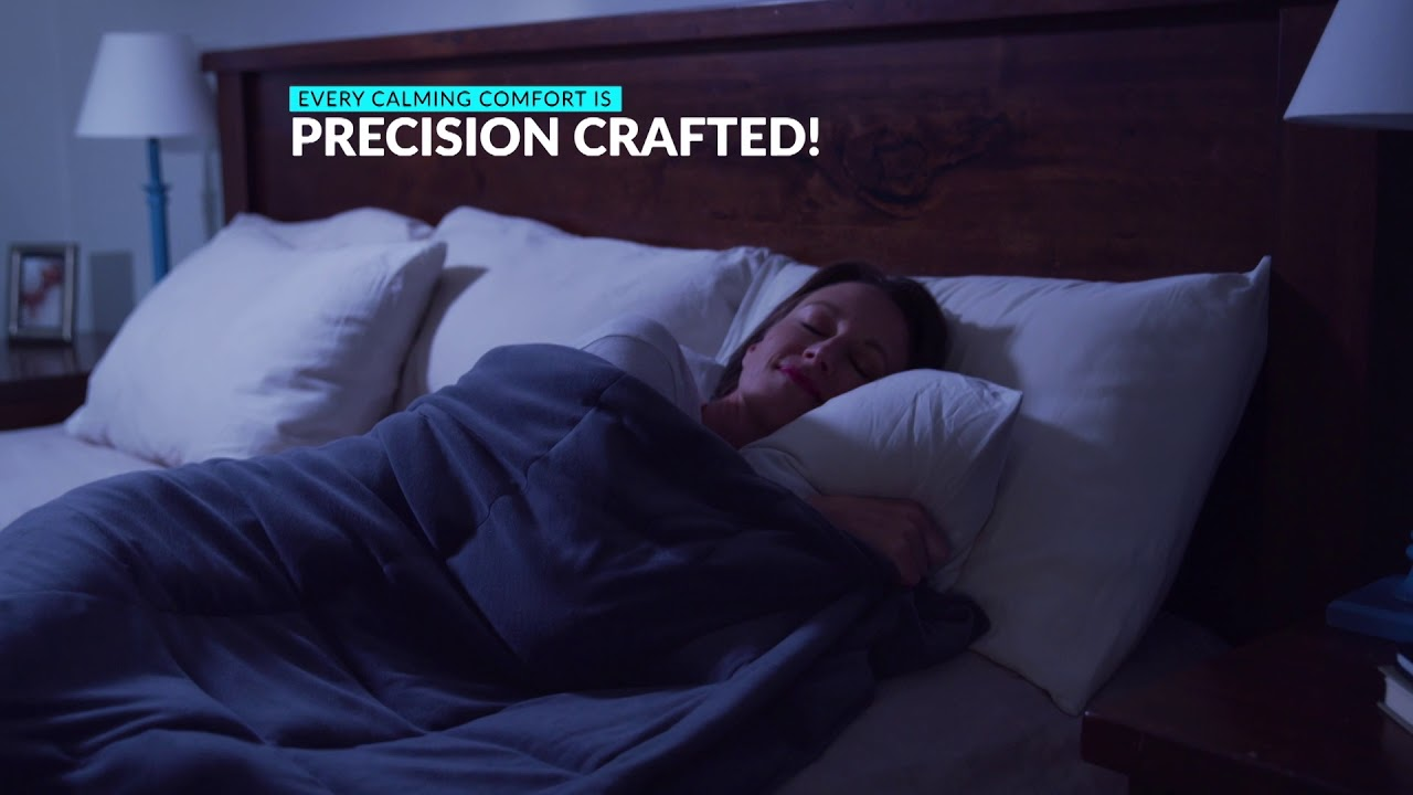 Sharper Image Calming Comfort Weighted Blanket Youtube