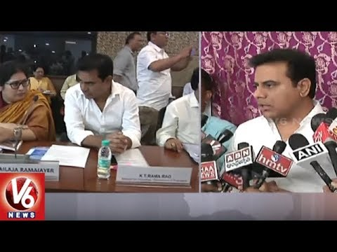 Minister KTR Attends Meeting On Handloom Handicraft Sector In New Delhi | V6 News