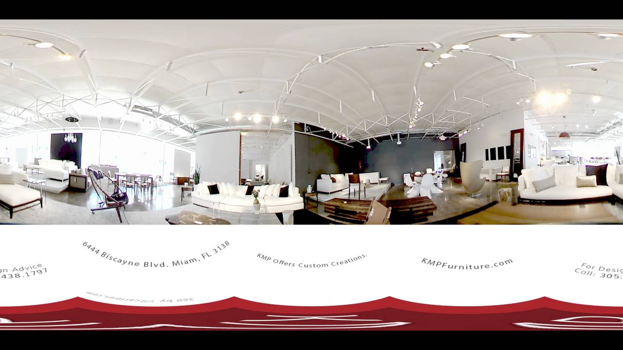 Modern furniture showroom design - 360vr Virtual Tour Modern Furniture Showroom Miami Part 1