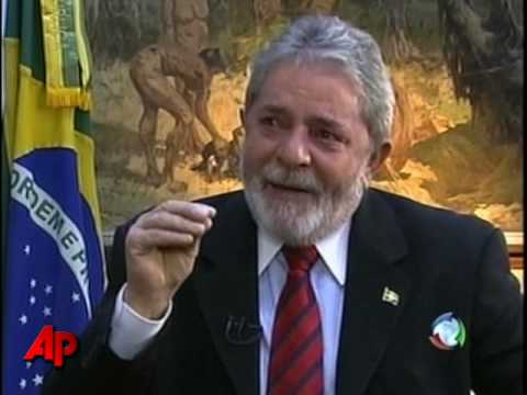 Raw Video: Brazil's Lula Cries in Interview