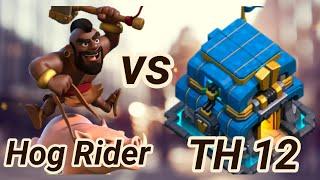 Hog Rider fights   TH 12   3 Star War Attack   kill squad   ground attacks   COC 4/19 clash of clans