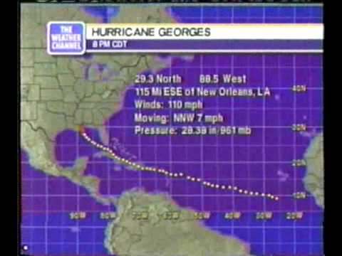 TWC Hurricane Georges coverage 1998: Clip 4
