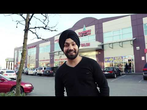 Punjabi Students in Punjabi Market of  Surrey || Canada
