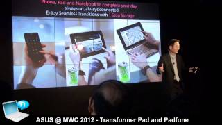 Asus @ MWC 2012: Transformer Pad and Padfone