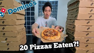 20 Domino's Pizza Eating Challenge! | Over 13,000 calories in one sitting! | Entire Pizza Menu!