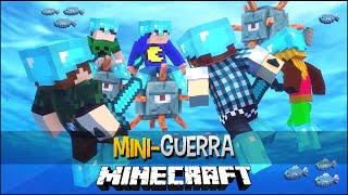 Minecraft: MINI-GUERRA - BATALHA NO MAR !!