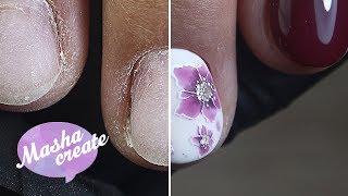 АППАРАТНЫЙ маникюр + ФОРМУЛА простых цветов на ногтях :) Простой рисунок гель лаком