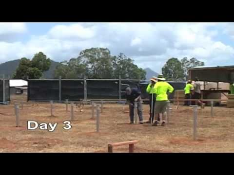 Remote Housing Australia; First 5 days of construction