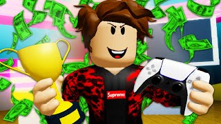 He Cheated To Be A Famous Gamer! A Roblox Movie (Story)