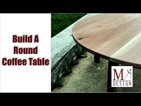 Build Round Coffee Table Woodworking How To