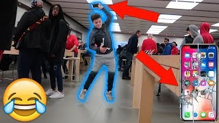connectYoutube - SMASHING THE IPHONE X IN PUBLIC PRANK!