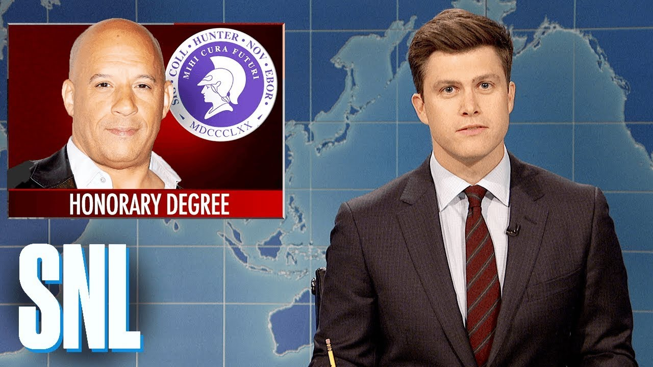 Weekend Update on Vin Diesel Receiving Honorary Degree - SNL