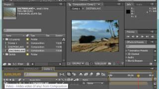 Вікно тимчасової шкали Timeline у Adobe After Effects CS4