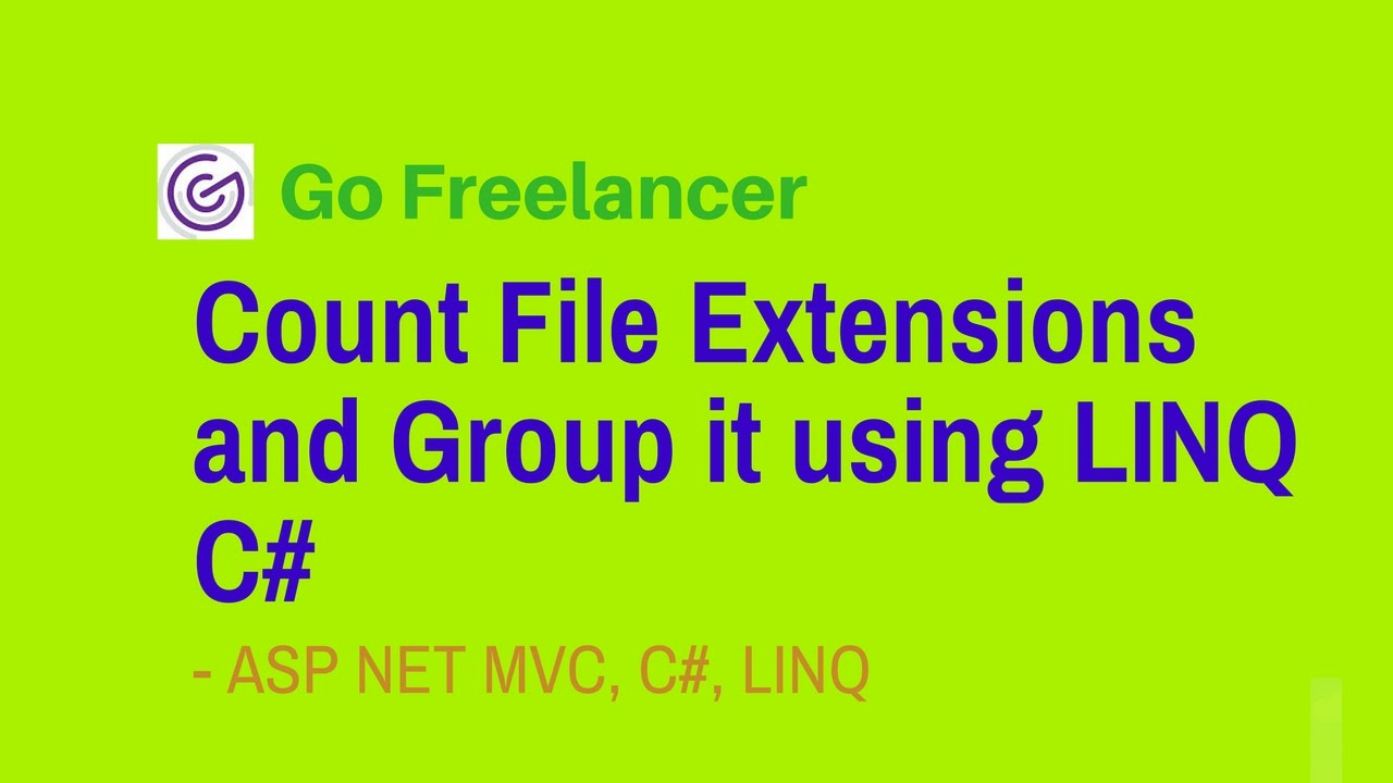 Count File Extensions and Group it using LINQ C#