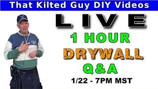 🔴Drywall Q&A Live Stream. Drywall Mudding Tips & Tips, Plus ASK ME YOUR QUESTIONS!