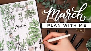 PLAN WITH ME | March 2021 Bullet Journal Setup